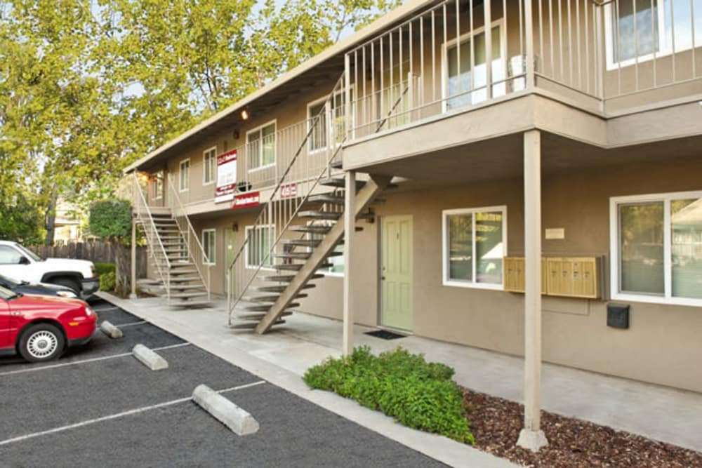 Front exterior at Ash Street Apartments in Chico, California