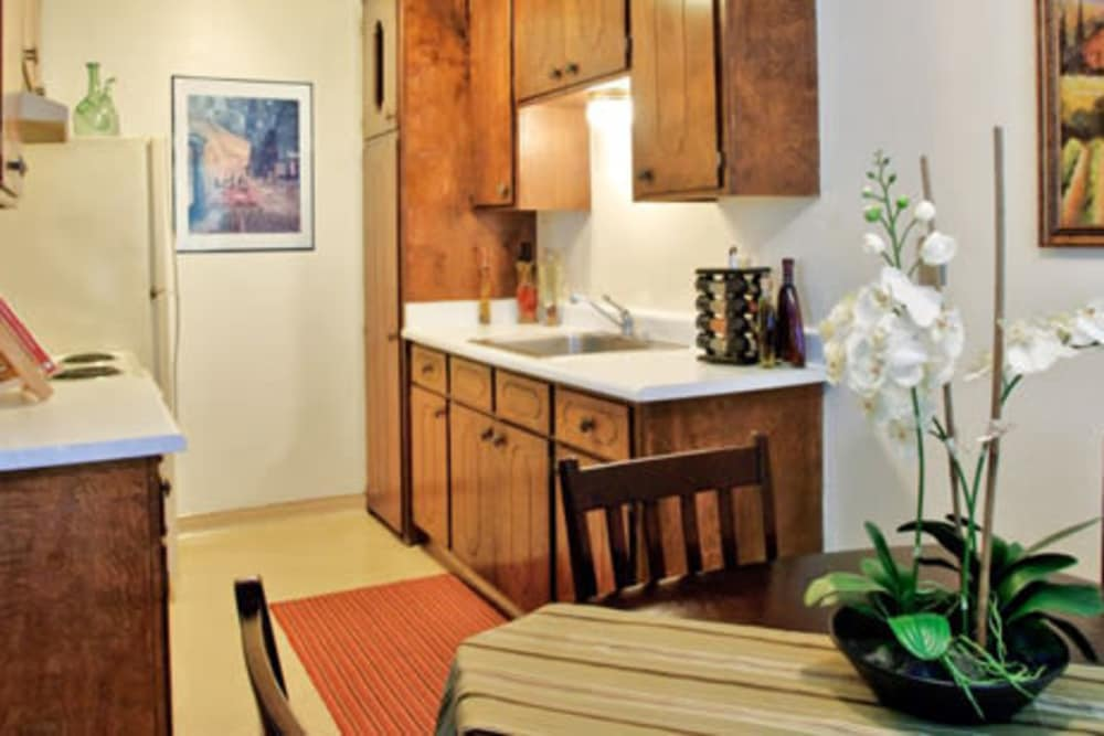 Kitchen at Ash Street Apartments in Chico, California