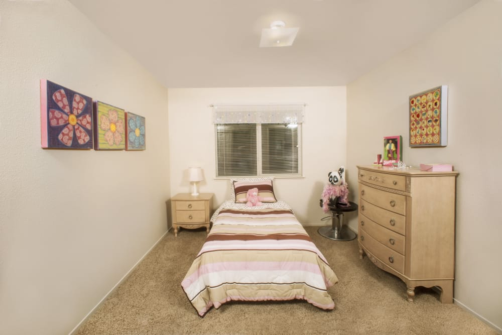 Bedroom at Mission Ranch Apartments in Chico, California