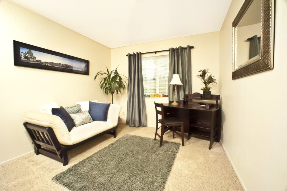 Living room at Oak Meadow Apartments in Chico, California
