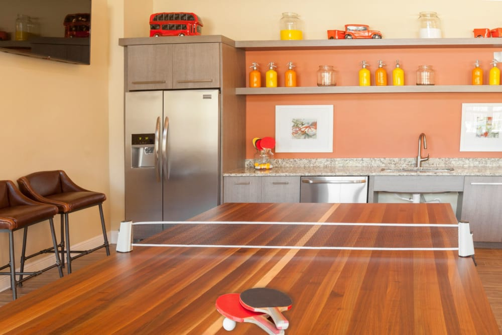 Ping Pong table at The Gate Apartments in Champions Gate, Florida