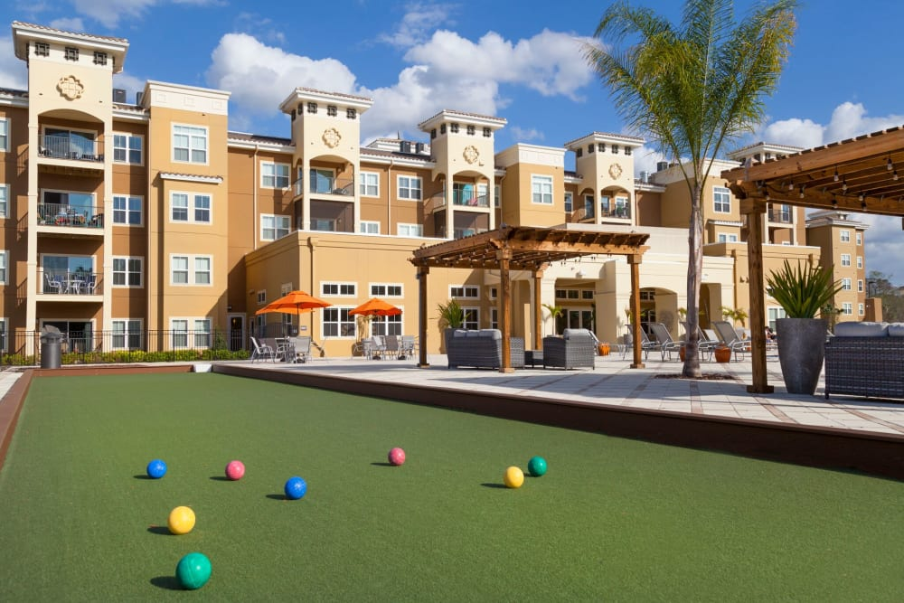 Lawn games at The Gate Apartments in Champions Gate, Florida