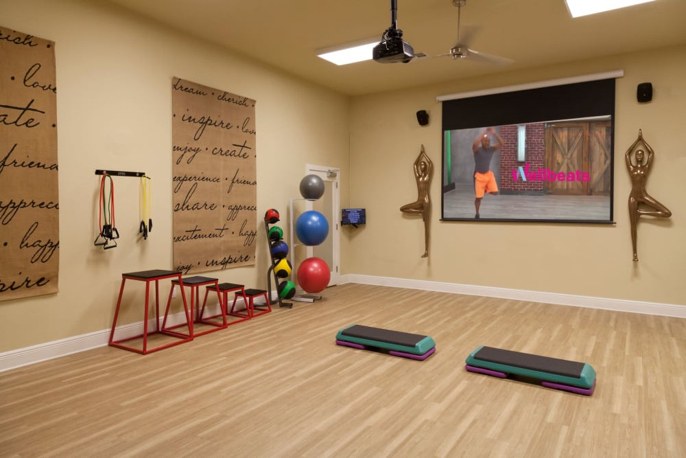 Fitness center at The Gate Apartments in Champions Gate, Florida