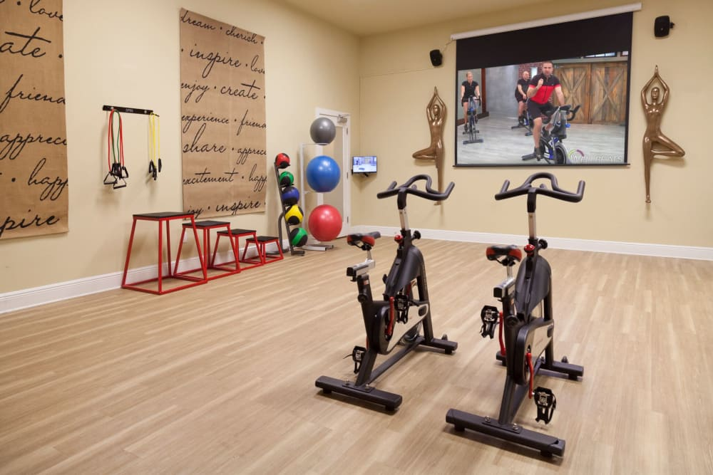 Workout room at The Gate Apartments in Champions Gate, Florida