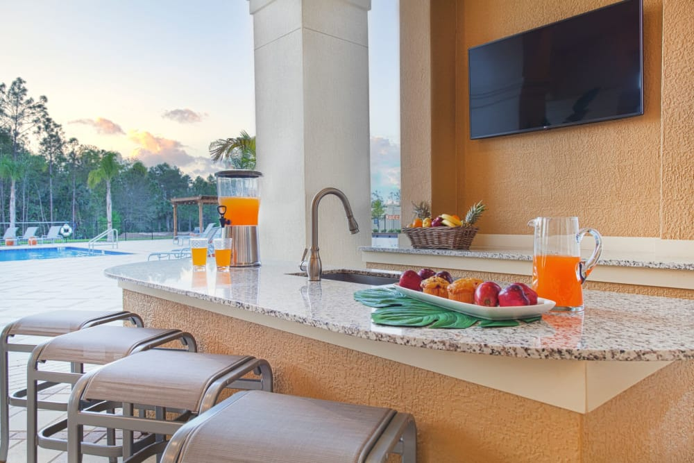 Poolside bar at The Gate Apartments in Champions Gate, Florida