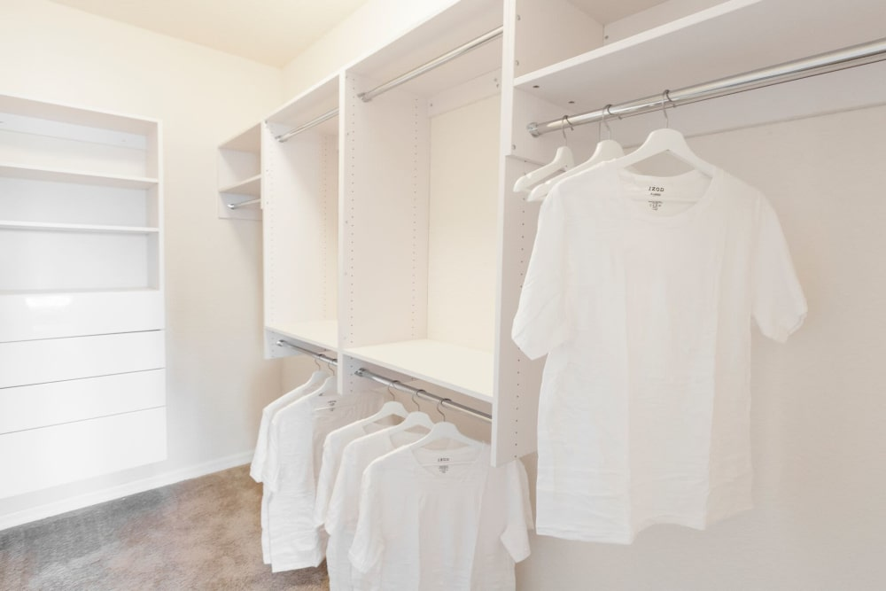 Closet space at The Gate Apartments in Champions Gate, Florida