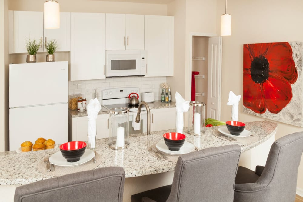 Place setting at The Gate Apartments in Champions Gate, Florida