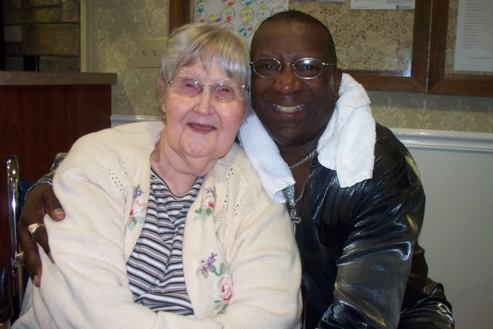 Resident and caretaker at Heritage Hill Senior Community in Weatherly, Pennsylvania
