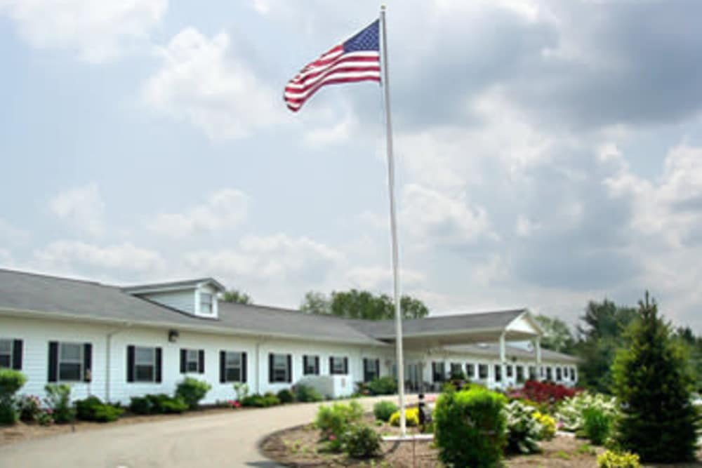 Main entrance to Heritage Hill Senior Community in Weatherly, Pennsylvania