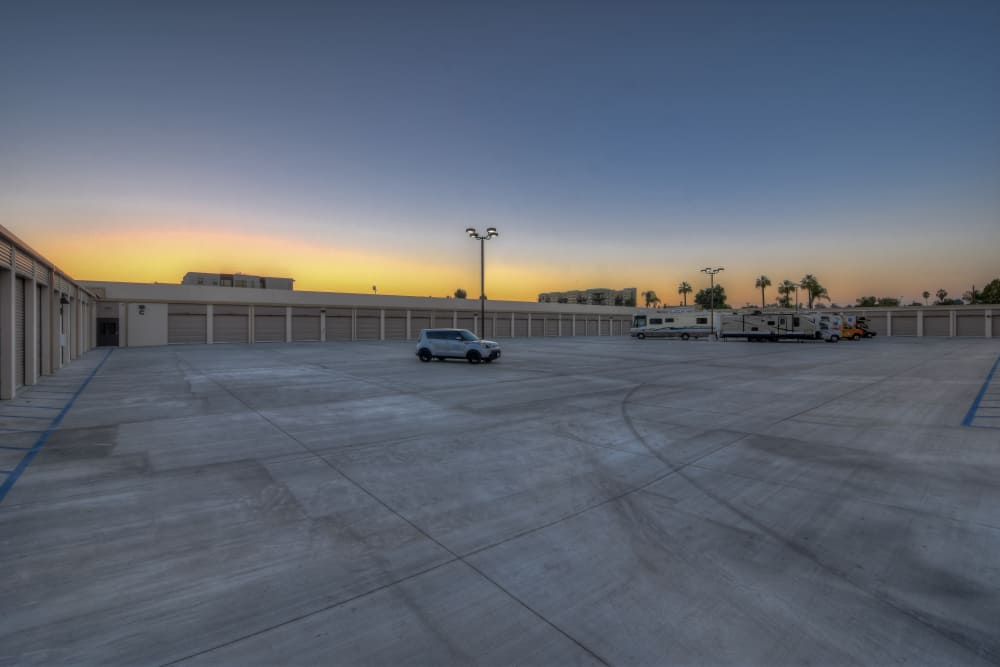 Sunset at My Self Storage Space in Fullerton, California