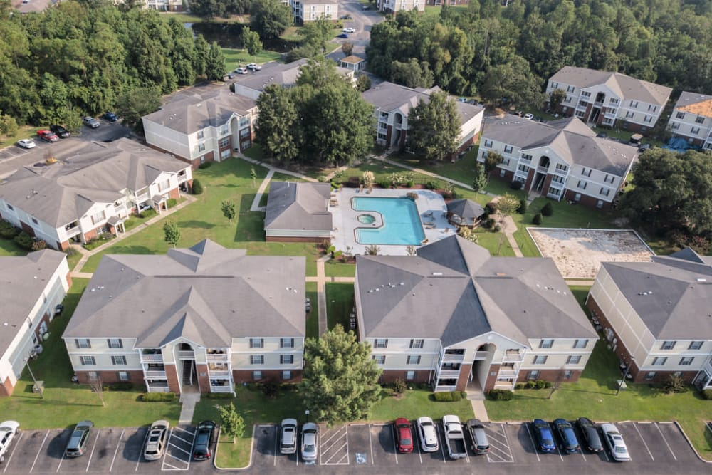 Aerial view of The Grove in Biloxi, Mississippi