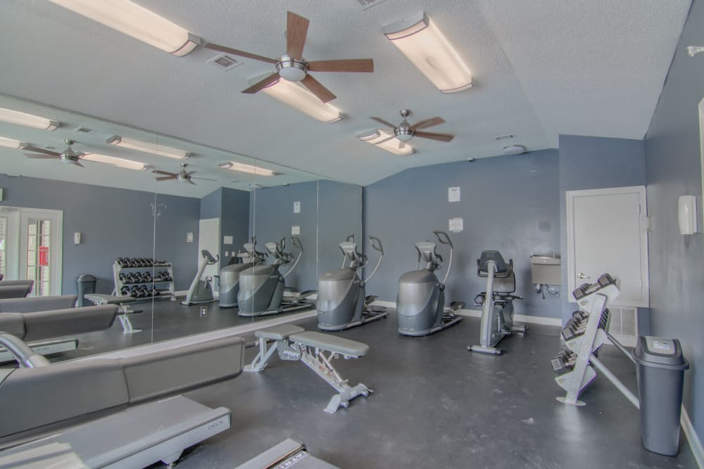 Fitness center at The Grove in Biloxi, Mississippi