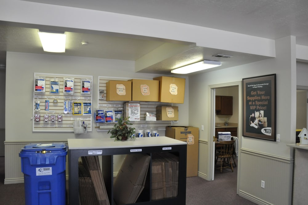 Inside of the office at Lock It Up Self Storage in Ogden, Utah