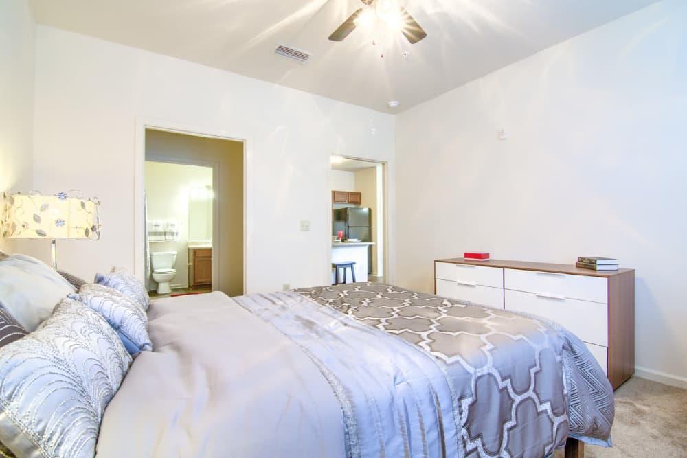 Beautiful bedroom at Woodside in Mobile, Alabama