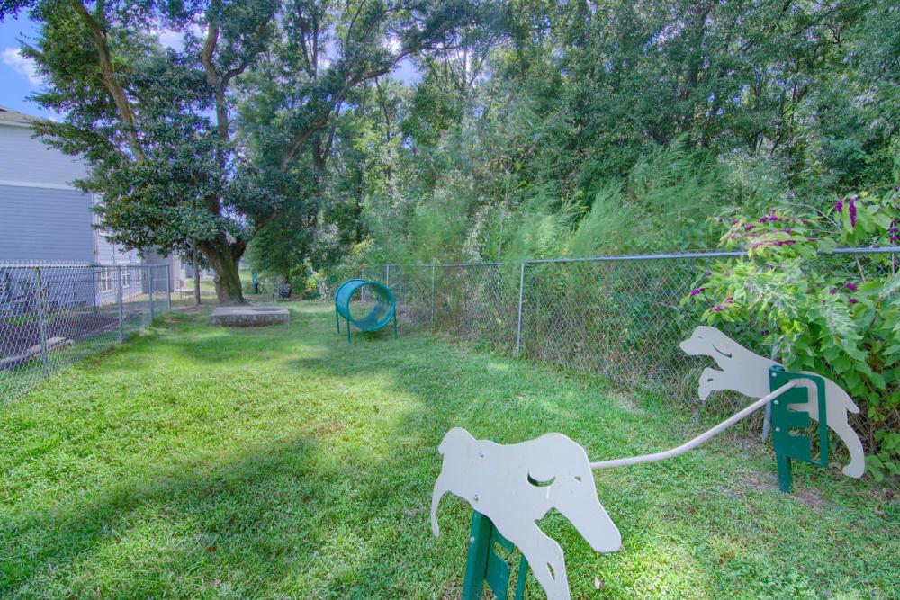 Dog park at Woodside in Mobile, Alabama