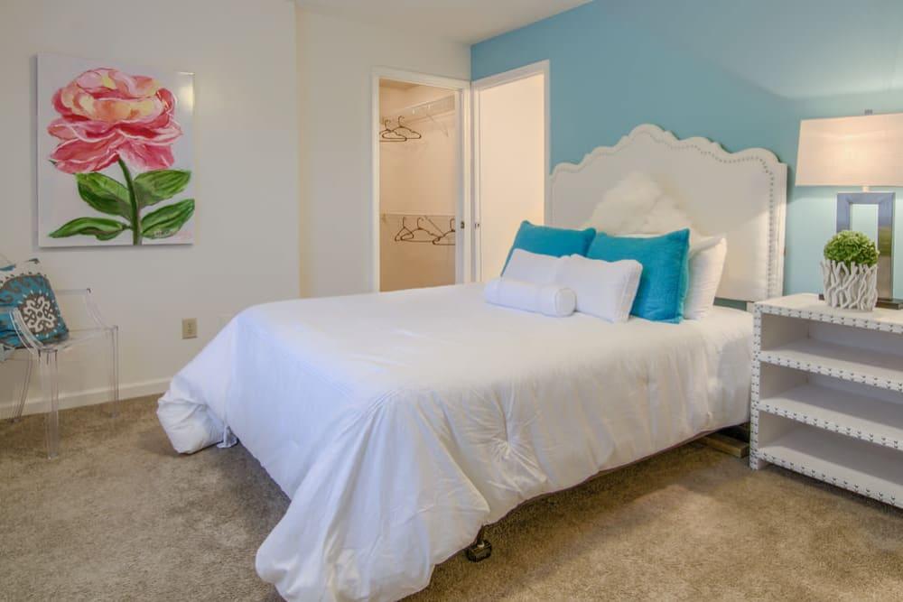 Beautiful bedroom at Rutland Place in Macon, Georgia