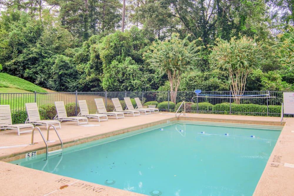 Luxury swimming pool at Rutland Place in Macon, Georgia