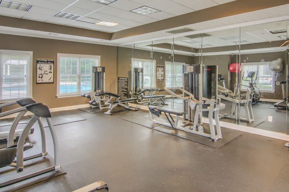 Fitness center at Rutland Place in Macon, Georgia
