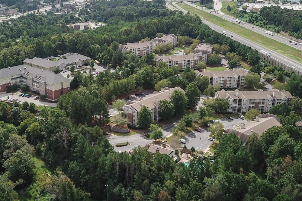 Aerial view at North Park at Eagle's Landing in Stockbridge, Georgia