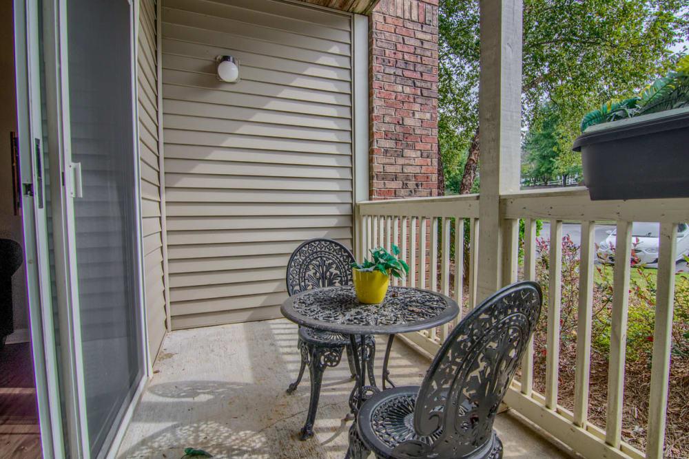 Private balcony at North Park at Eagle's Landing in Stockbridge, Georgia