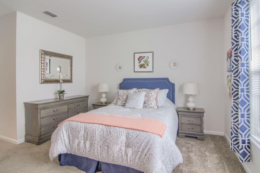 Beautiful bedroom at Villas by the Lake in Jonesboro, Georgia