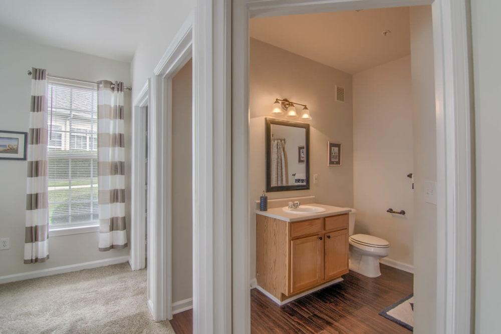 Luxury bathroom at Villas by the Lake in Jonesboro, Georgia