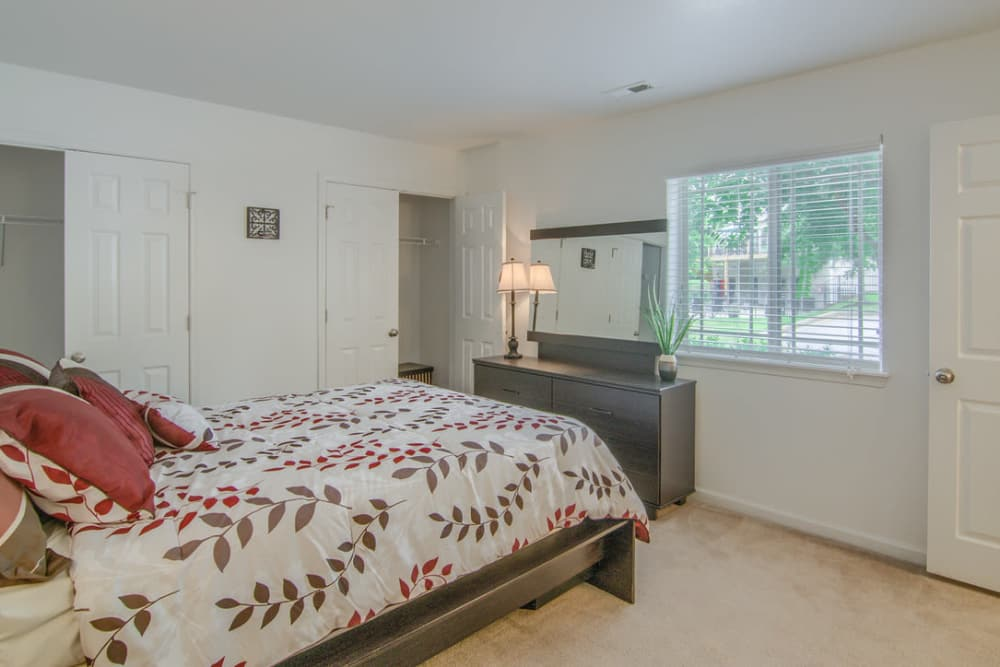 Beautiful bedroom at Villas at Lawson Creek in Boiling Springs, South Carolina