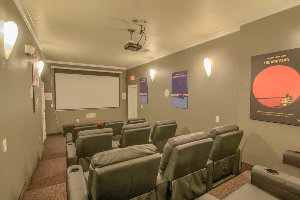 Entertainment theater at Villas at Lawson Creek in Boiling Springs, South Carolina
