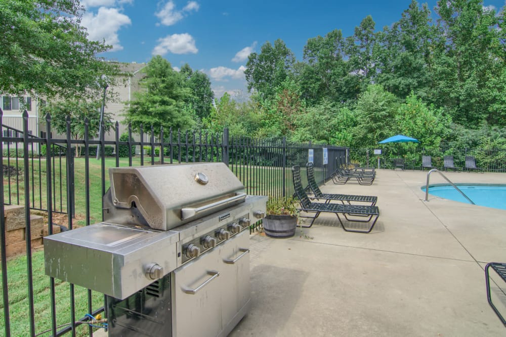 BBQ area at Villas at Lawson Creek in Boiling Springs, South Carolina