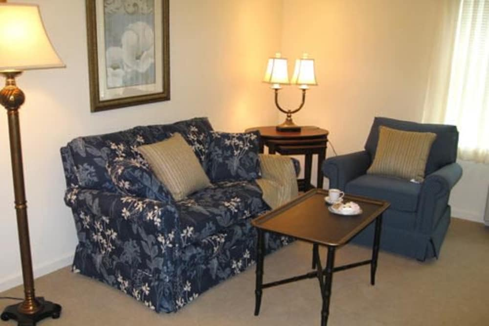 model living space at The Birches at Harleysville in Harleysville, Pennsylvania
