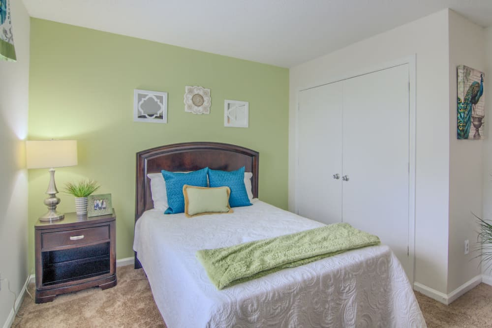 Beautiful bedroom at Claypond Commons in Myrtle Beach, South Carolina