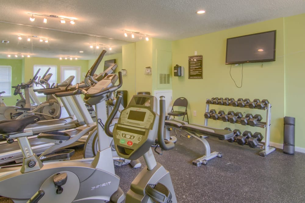 Fitness center at Claypond Commons in Myrtle Beach, South Carolina