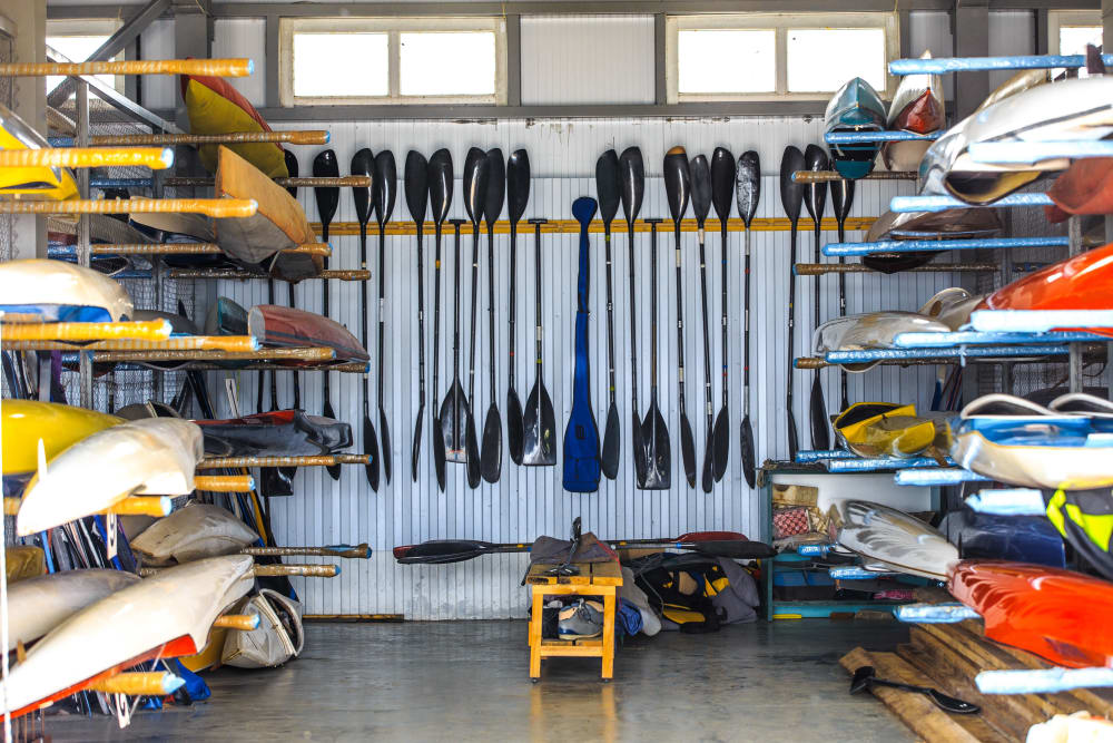 Outdoor gear stored at Box Self Storage Units in Loveland, Ohio
