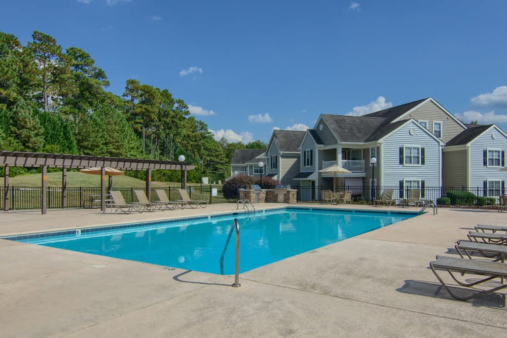 Luxury swimming pool at Park at Clearwater in Aberdeen, North Carolina
