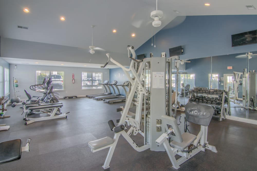 Fitness center at Park at Clearwater in Aberdeen, North Carolina