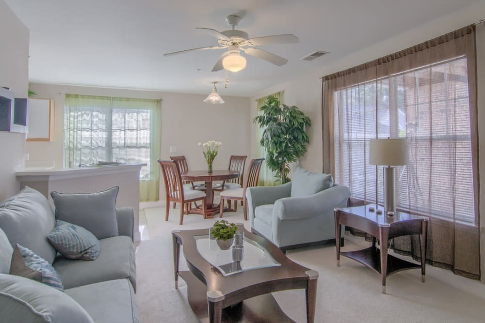 Luxury living room at Park at Clearwater in Aberdeen, North Carolina