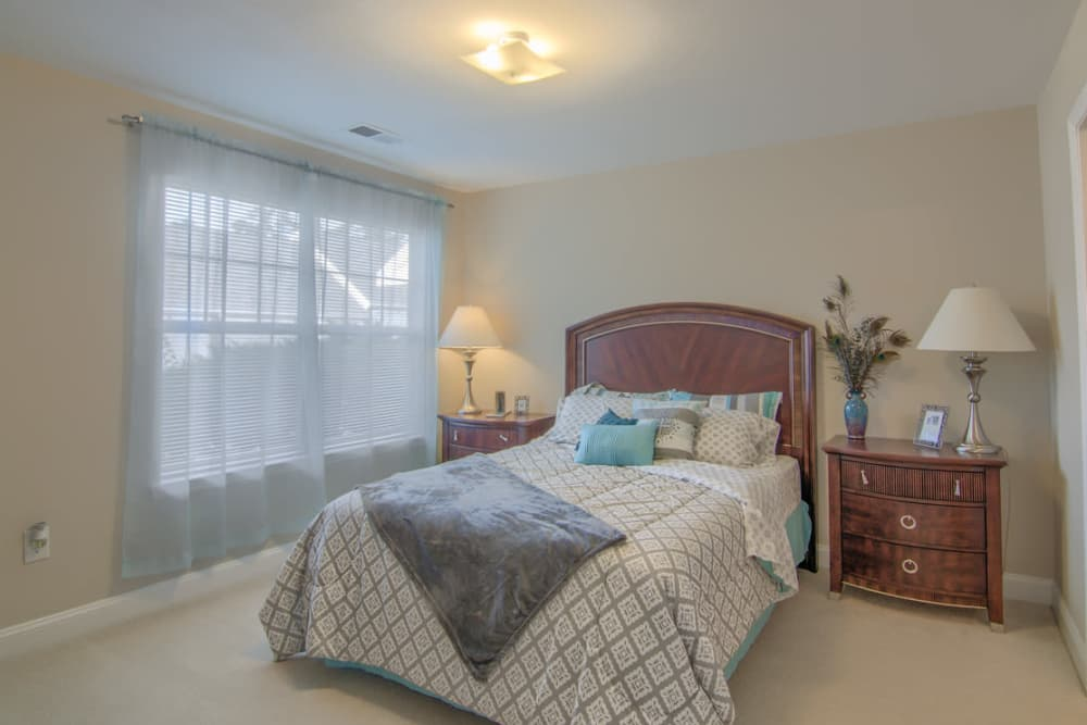 Luxury bedroom at Park at Clearwater in Aberdeen, North Carolina