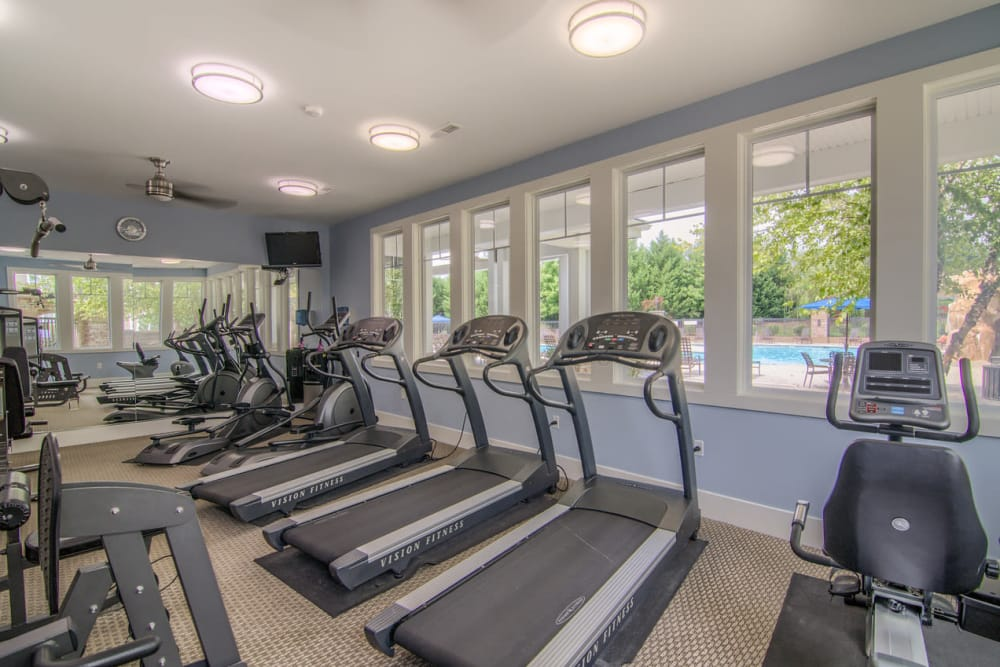 Fitness center at Windsor Upon Stonecrest in Burlington, North Carolina