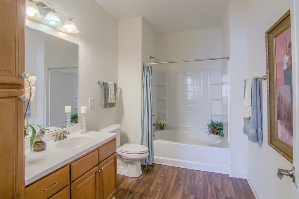 Luxury bathroom at Windsor Upon Stonecrest in Burlington, North Carolina