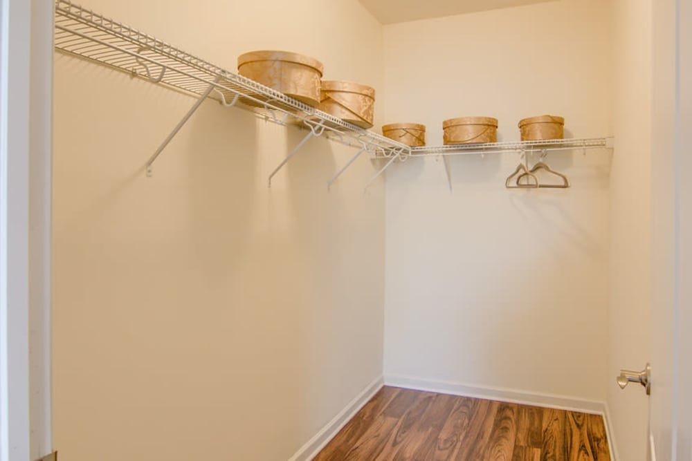 Spacious closet at Windsor Upon Stonecrest in Burlington, North Carolina