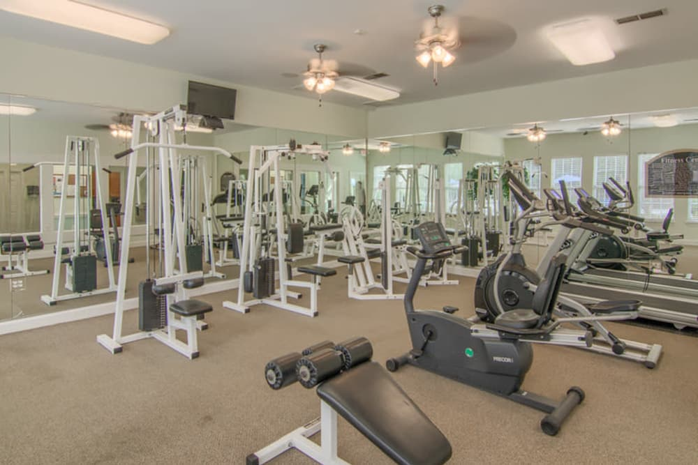 Fitness center at Retreat at Stonecrest in Lithonia, Georgia