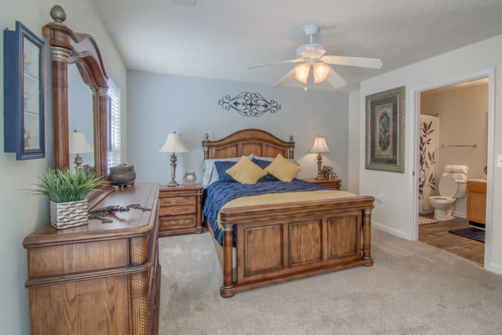 Beautiful bedroom at Retreat at Stonecrest in Lithonia, Georgia