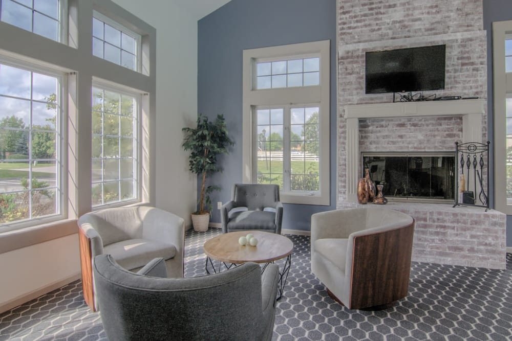 Beautiful lounge at Gateway Lakes Apartments in Grove City, Ohio