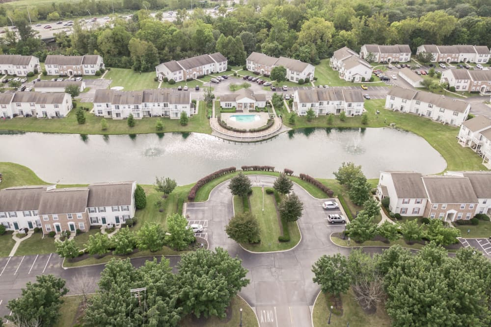 Beautiful aerial at College Park in Columbus, Ohio