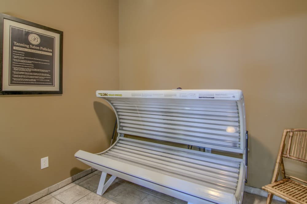 Tanning bed at The Bristol in Camby, Indiana