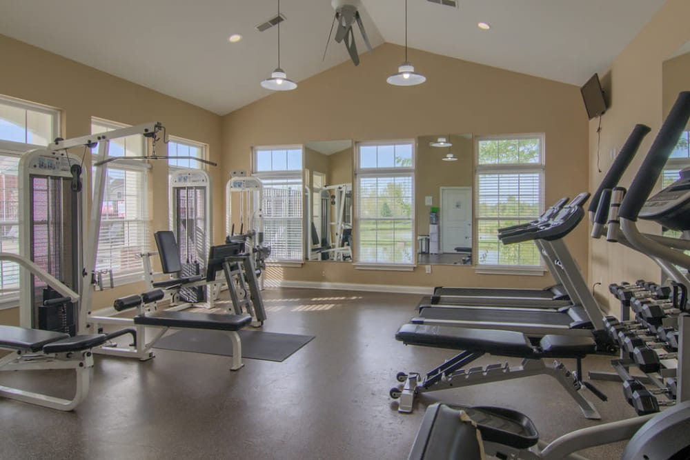 Fitness center at The Bristol in Camby, Indiana