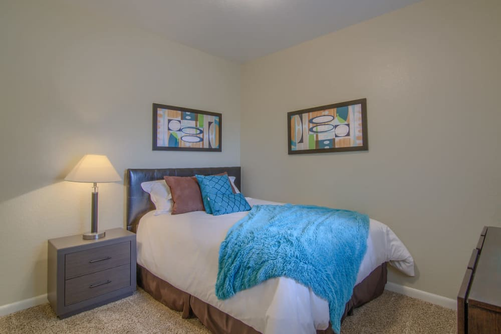 Beautiful bedroom at Heights at Battle Creek in Broken Arrow, Oklahoma