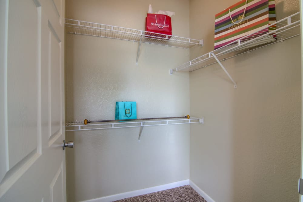 Spacious closet at Heights at Battle Creek in Broken Arrow, Oklahoma