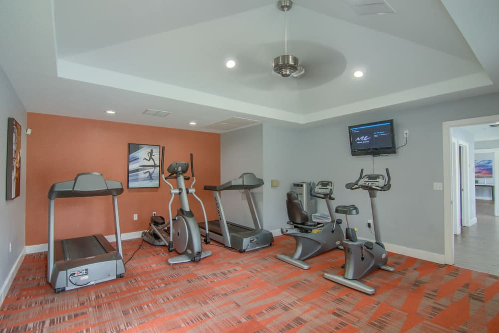 Fitness center at Heights at Battle Creek in Broken Arrow, Oklahoma