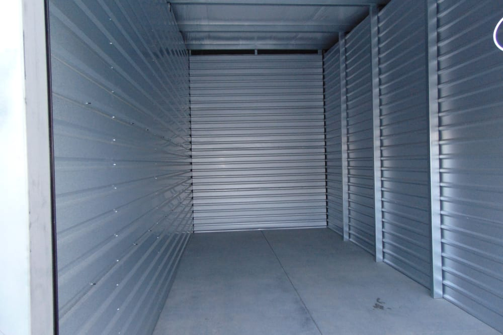 Interior storage example at Laramie Self Storage in Laramie, Wyoming
